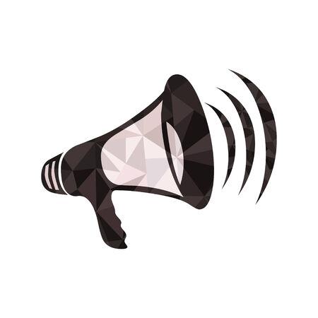 low polygon megaphone Vector