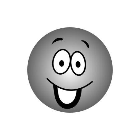 emo��es: cara dos desenhos animados emo��es Ilustra��o