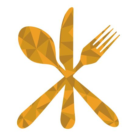 fork and spoon: fork spoon knife geometric Illustration