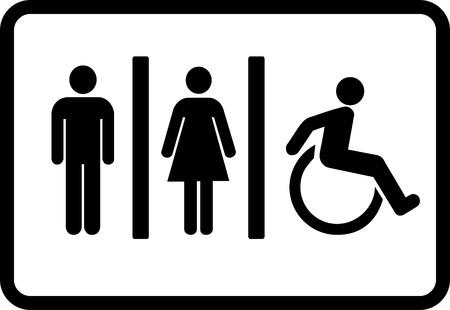 toiletten pictogram