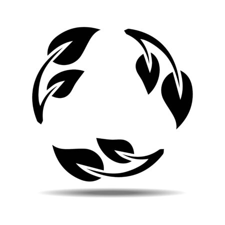 logo recyclage: feuilles de recyclage