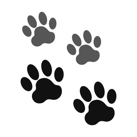 dog paw vector Illustration