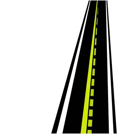 backgorund: road on white backgorund