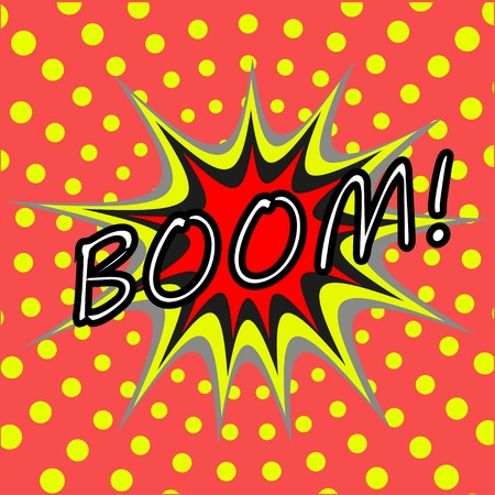 BOOM! comic speech bubble Vector
