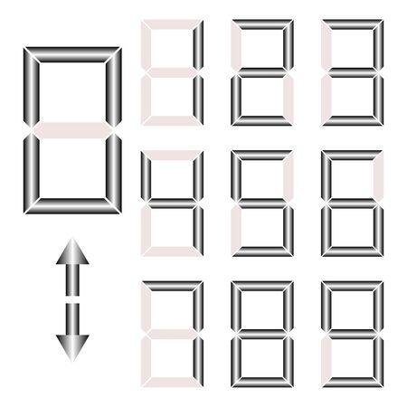 display type: Digital numbers