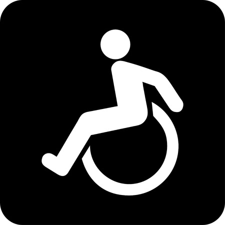 Wheelchair For disabled people Vector