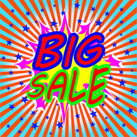 big sale comic speech bubble Vector
