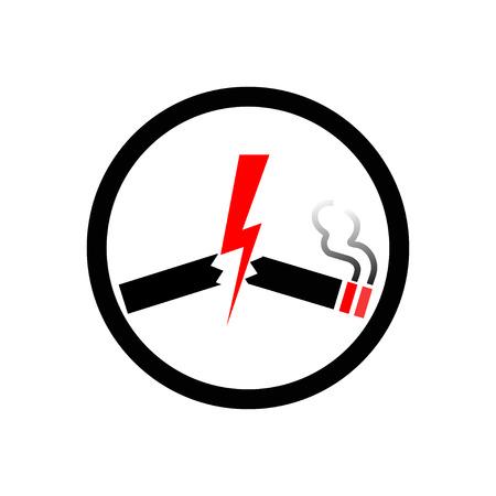abstain: no smoking Illustration