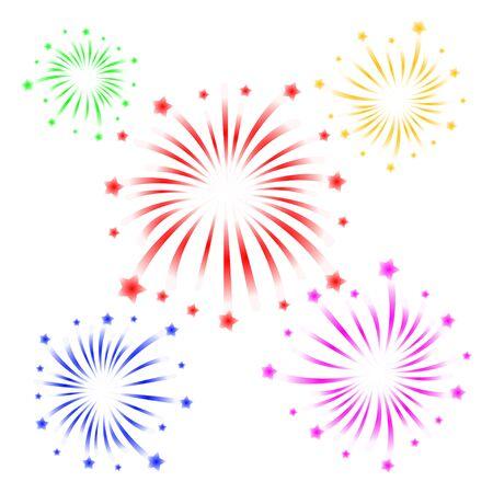 brightly: brightly colorful firework