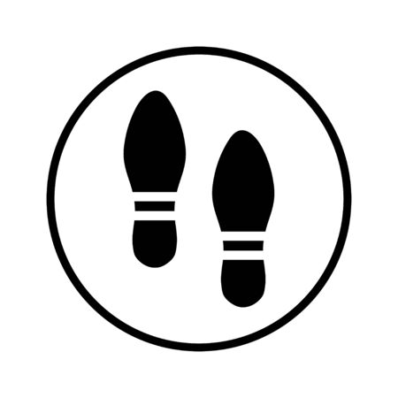 foot print: foot print Illustration