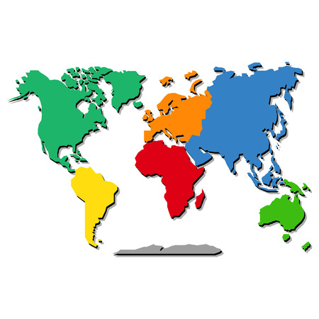 mapa mundi: Mapa del mundo Vectores