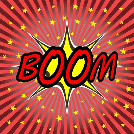comic bubble: boom comic speech bubble