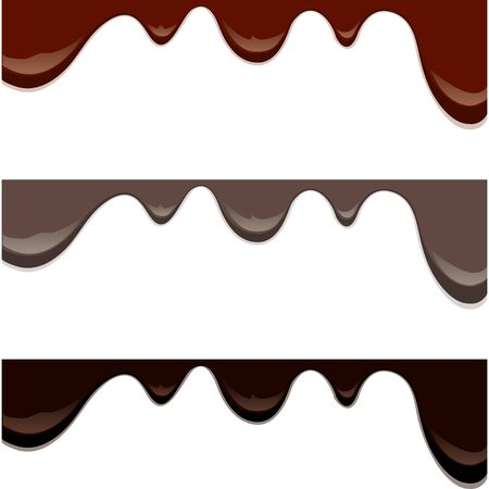 drips: Melted chocolate drips