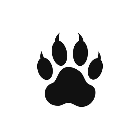 tiger white: paw print Illustration