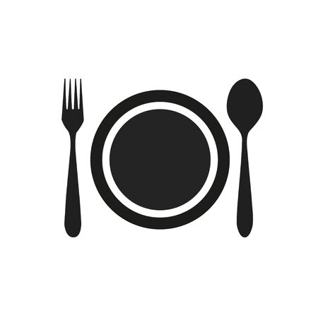 lunch table: fork spoon dish icon