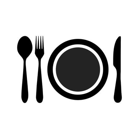 plaat vork mes lepel pictogram
