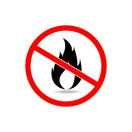 open flame: no fire