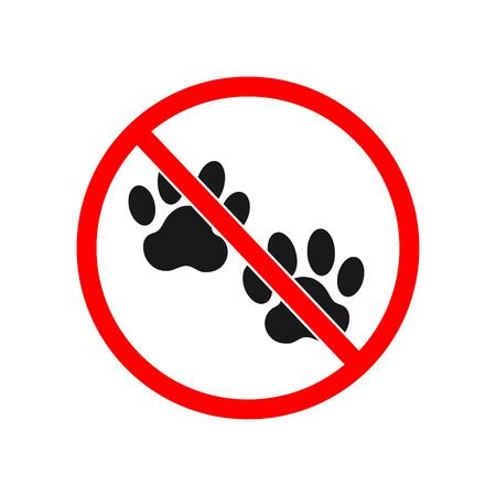 dog allowed: no dog paw