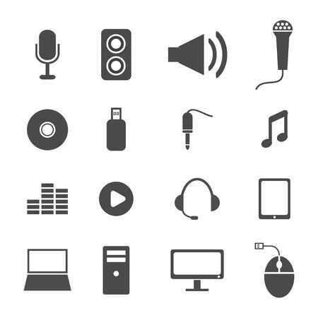 music icons  イラスト・ベクター素材