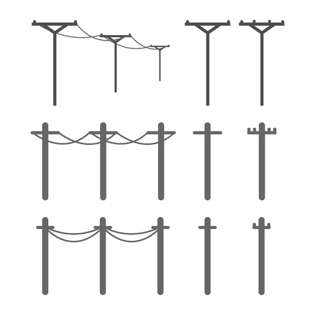 power pole: electricity post Illustration