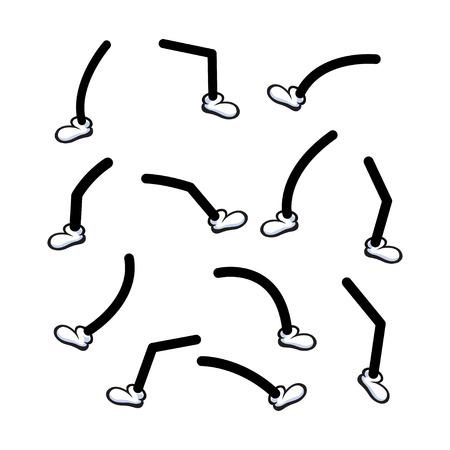 piernas con tacones: piernas de dibujos animados