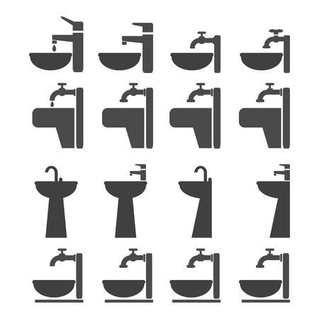 faucet and sink Vector