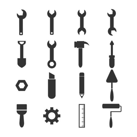 working tools: tools icons