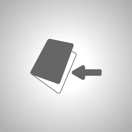 bank book: book bank with arrow Illustration