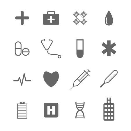 Medical icons  イラスト・ベクター素材