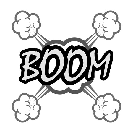 boom comic speech bubble Vector