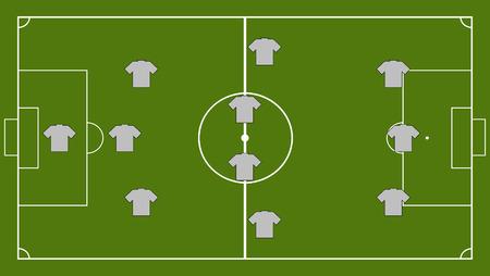 center position: Soccer team formation Illustration