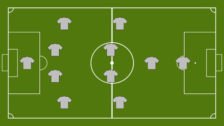 Soccer team formation Illustration