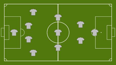 football coach: Soccer team formation Illustration