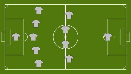 formation: Soccer team formation Illustration
