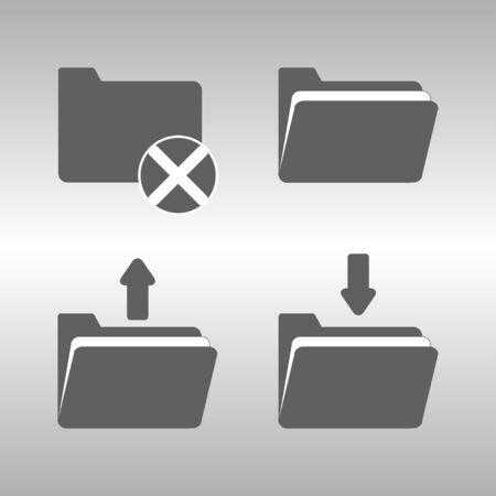folder icons: folder icons set Illustration