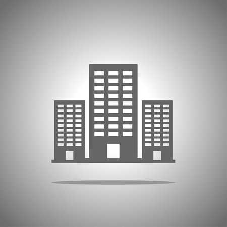 office icons: building icon Illustration