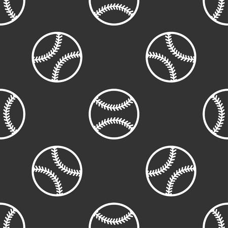 naadloze patroon met honkbal Stock Illustratie