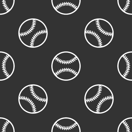 seamless pattern with baseball