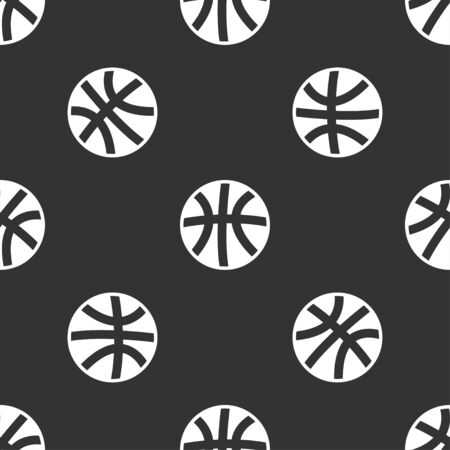 basketballs: seamless pattern with basketball Illustration
