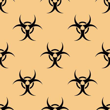 hazard: seamless pattern with Bio hazard