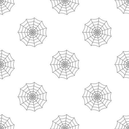 gossamer: seamless pattern with cobweb Illustration