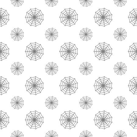 naadloze patroon met spinnenweb