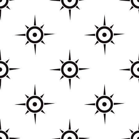 seamless pattern: seamless pattern with compass Illustration
