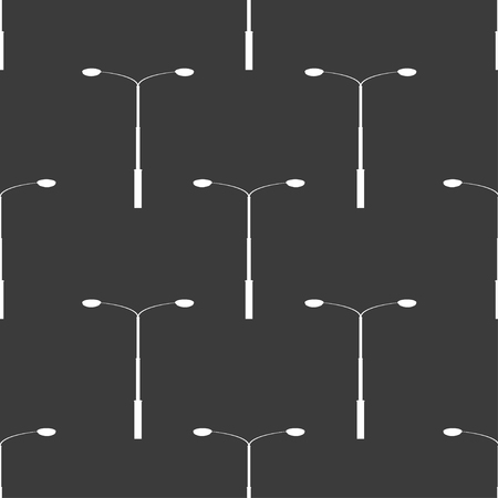 street lamp: seamless pattern with electricity street lamp