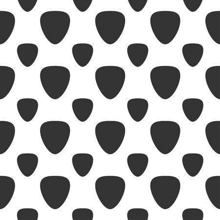 plectrum: seamless pattern with guitar picks