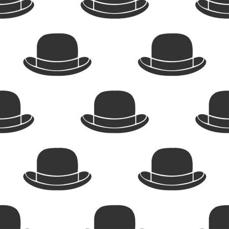 bowler hat: seamless pattern bowler hat