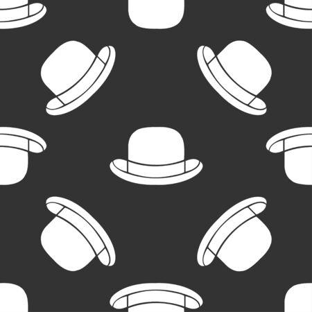 bouliste: seamless chapeau melon Illustration