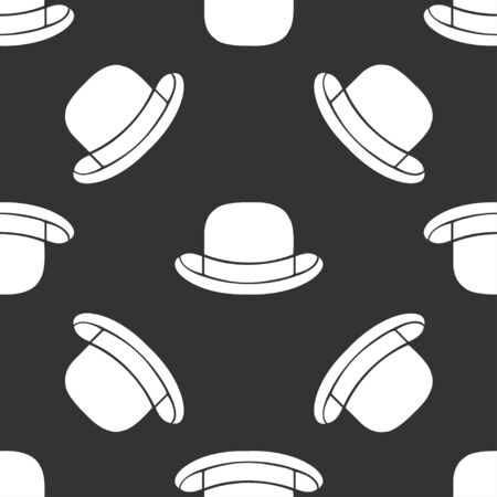 bowler: seamless pattern bowler hat