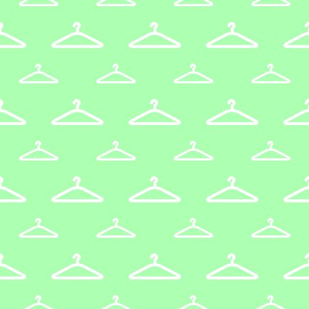 clothing rack: seamless pattern with hanger