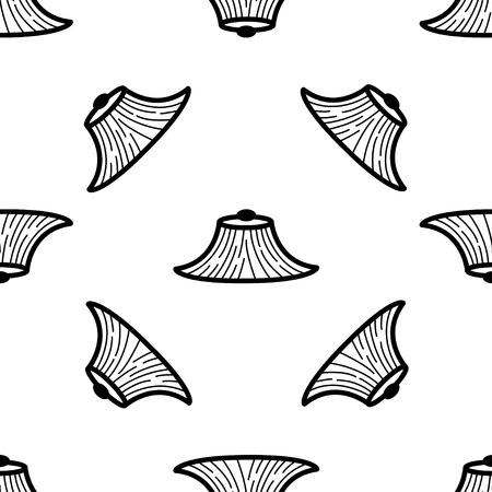 conical hat: seamless pattern with Conical Hat